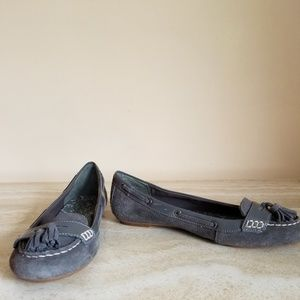 Sperry Topsiders Gray Suede Loafers Size 8 Medium